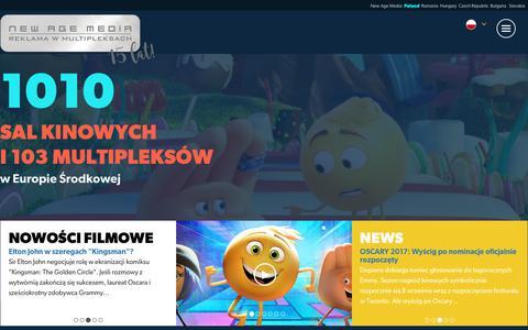 Screenshot of Home Page newagemedia.eu - New Age Media – Strona główna serwisu New Age Media - captured Oct. 20, 2017