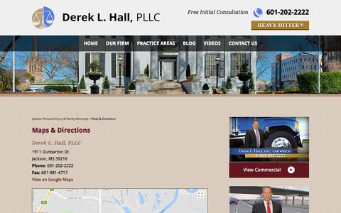 Screenshot of Maps & Directions Page dlhattorneys.com - Maps & Directions | Derek L. Hall, PLLC - captured Oct. 12, 2017
