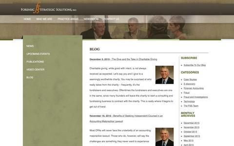 Screenshot of Blog forensicstrategic.com - Blog | Forensic Strategic Solutions - captured Feb. 10, 2016