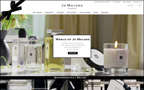 Screenshot of About Page jomalone.co.uk - World of Jo Malone | Jo Malone London - captured Oct. 22, 2017