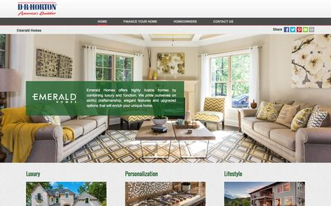 Screenshot of drhorton.com - Emerald Homes | Luxurious Homes with a Personalized Touch - captured Dec. 9, 2016