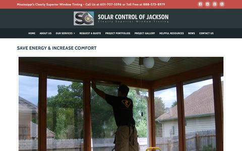 Screenshot of Products Page solarcontroljackson.com - Portfolio Archive - Solar Control of Jackson - captured Oct. 19, 2018