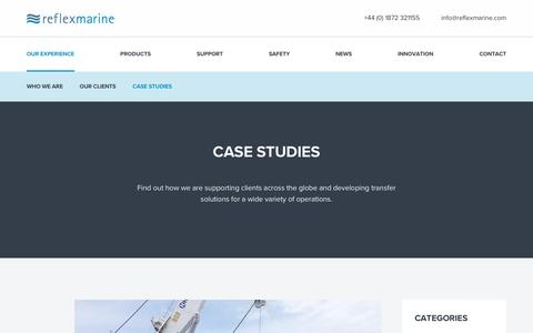 Screenshot of Case Studies Page reflexmarine.com - Case studies from across the offshore marine industries - captured Dec. 16, 2016
