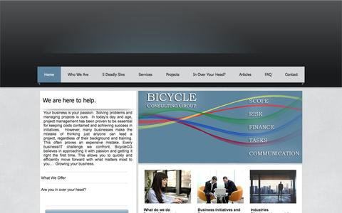Screenshot of Home Page bicyclecg.com - Bicycle Consulting Group| IT Project Management Consulting| Houston - captured Feb. 7, 2016