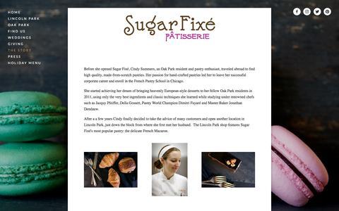 Screenshot of About Page sugarfixe.com - The Story — Sugar Fixé - captured Dec. 3, 2016
