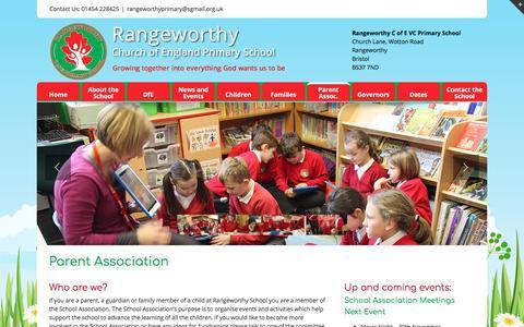 Screenshot of About Page rangeworthyprimaryschool.co.uk - Parent Association - Rangeworthy Primary School - captured Jan. 27, 2018