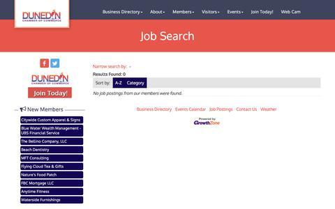 Screenshot of Jobs Page dunedinfl.com - Job Search - Dunedin Chamber of Commerce, FL - captured Dec. 7, 2017