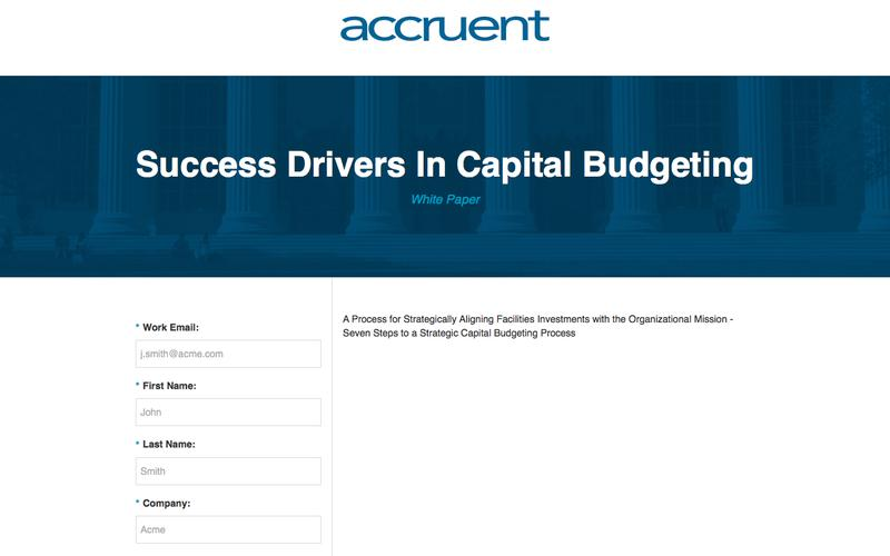 Success Drivers In Capital Budgeting