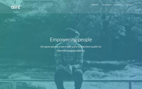 Screenshot of FAQ Page aire.io - Aire - Empowering people | Aire - captured Feb. 5, 2016