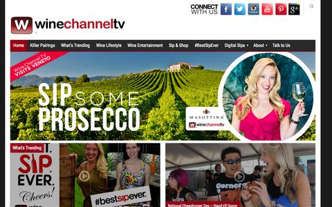 Screenshot of Home Page winechanneltv.tv - Wine Channel TV - Wine TV Guide Network - captured Sept. 20, 2015