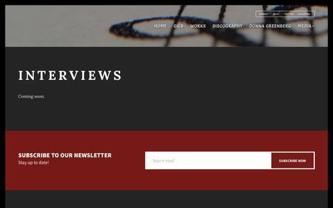Screenshot of Press Page donnagreenberg.com - Interviews - Donna Greenberg Music - captured Aug. 2, 2016