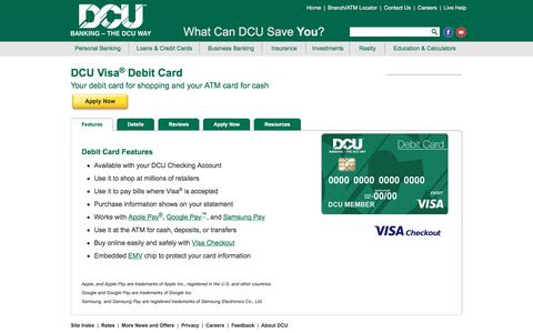 Visa Debit Card and ATMs | DCU | MA | NH