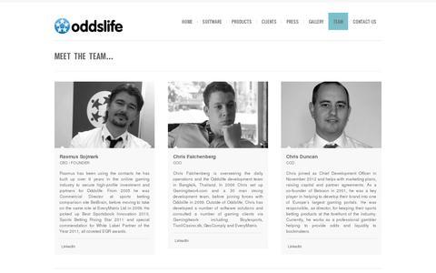 Screenshot of Team Page oddslife.com - Team   Oddslife    oddslife.com - captured July 19, 2014