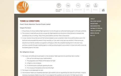 Screenshot of Terms Page skywaltz.com - SkyWaltz - captured Sept. 30, 2014