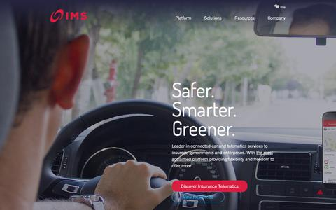 Screenshot of Home Page intellimec.com - IMS   Connected Car & Insurance Telematics Technology - captured Dec. 19, 2018