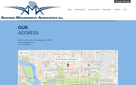 Screenshot of Maps & Directions Page avmgt.com - mysite | MAP - captured Oct. 9, 2017