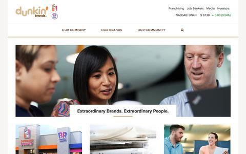 Extraordinary Brands. Extraordinary People. | Dunkin' Brands