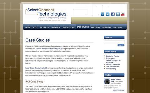 Screenshot of Case Studies Page selectconnecttech.com - SelectConnect Technologies: Case Studies | Select Connect Technologies - captured Oct. 3, 2014