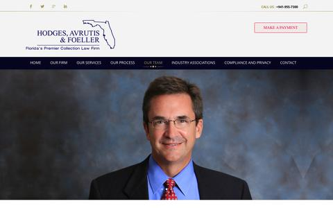 Screenshot of Team Page hodgesavrutis.com - FL Collections Law Firm | Debt Collection Agency - captured Jan. 30, 2016