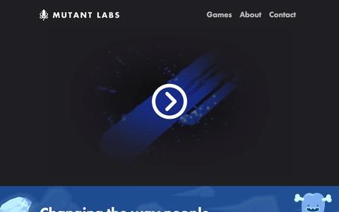 Screenshot of Home Page mutantlabs.com - Mutant Labs - Home - captured Sept. 17, 2015