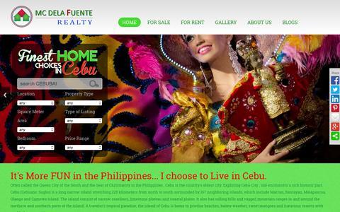 Screenshot of Home Page cebubai.com - Cebu Real Estate | HOME | CEBUBAI - captured Sept. 17, 2015