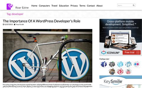 Screenshot of Developers Page roarezine.com - developerRoar Ezine | Roar Ezine - captured Feb. 27, 2016