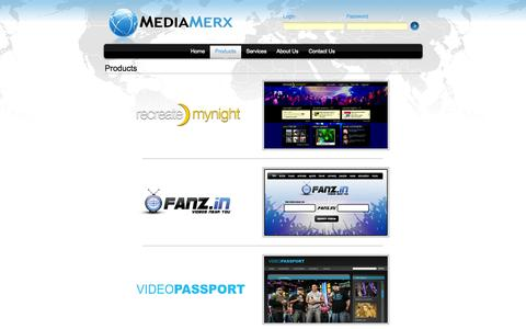 Screenshot of Products Page mediamerx.com - MediaMerx - The Marketplace For Global Media - captured Oct. 27, 2014