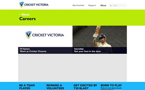 Screenshot of Jobs Page cricketvictoria.com.au - Careers - Cricket Victoria - captured Sept. 30, 2014