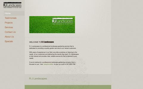 Screenshot of Home Page rjlandscapes.com.au - Home - captured Oct. 7, 2014