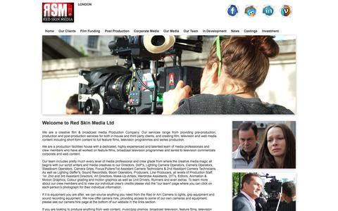 Screenshot of Home Page redskinmedia.com - Red Skin Media - captured Oct. 7, 2014