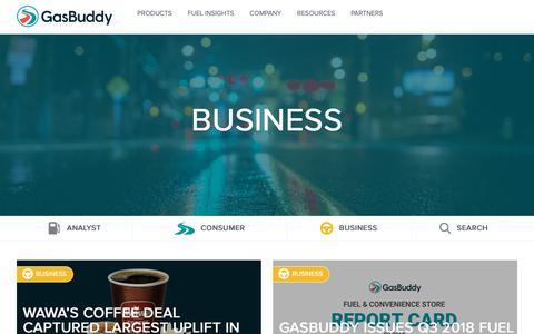 Screenshot of Blog gasbuddy.com - Business Archives - GasBuddy for Business - captured Oct. 19, 2018