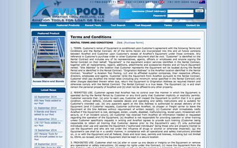 Screenshot of Terms Page aviapool.com - AviaPool - Terms and Conditions - captured Sept. 30, 2014