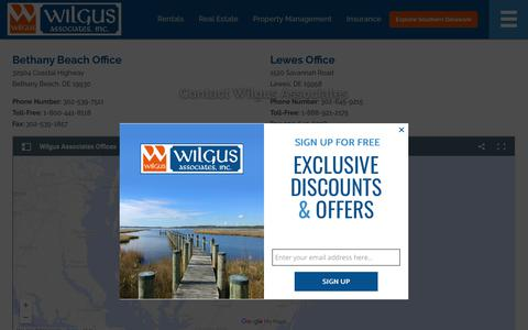 Screenshot of Contact Page wilgusassociates.com - Contact Wilgus Associates | Wilgus Associates - captured Oct. 19, 2018