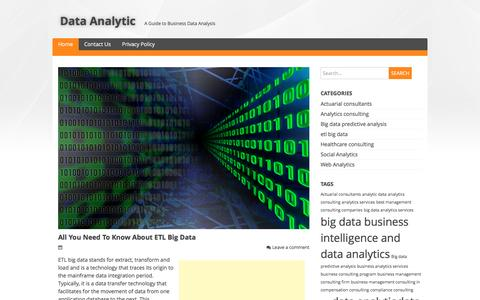 Screenshot of Home Page data-analytic.net - Data Analytic | A Guide to Business Data Analysis - captured June 26, 2016
