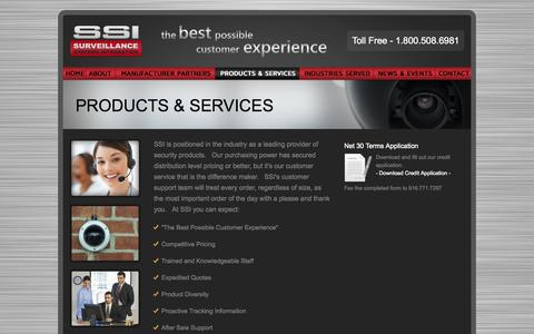 Screenshot of Products Page ssicctv.com - Surveillance Systems Integration   Products - captured Nov. 5, 2014