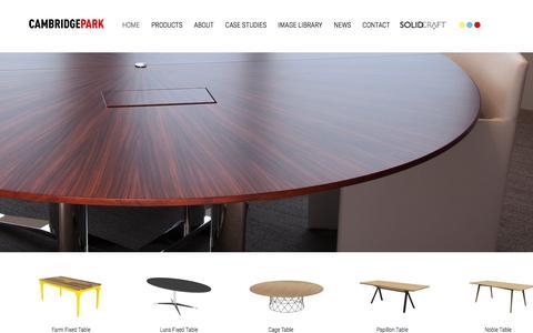 Screenshot of Home Page cambridge-park.co.uk - Cambridge Park Furniture Design, UK - captured July 10, 2016