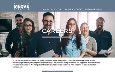 Screenshot of Jobs Page medve.com - Careers - captured Nov. 16, 2018