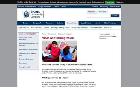 Visas and Immigration | Brunel University London