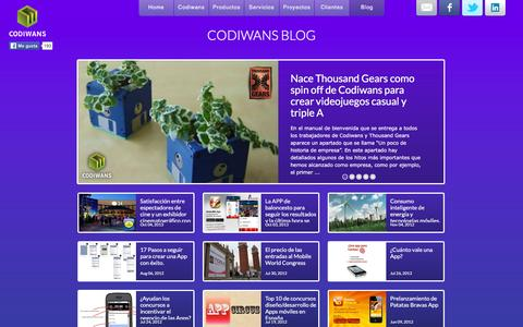Screenshot of Blog codiwans.com - Codiwans Blog - captured Dec. 10, 2015