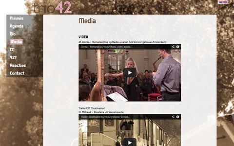 Screenshot of Press Page trio42.nl - Media «  trio42 - captured Oct. 8, 2014