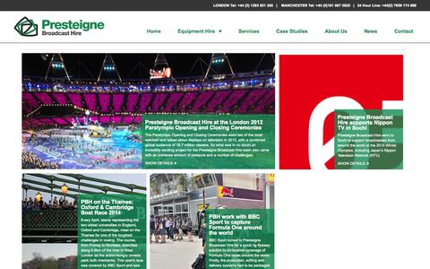 Screenshot of Case Studies Page presteigne.tv - Case Studies - captured Oct. 28, 2014