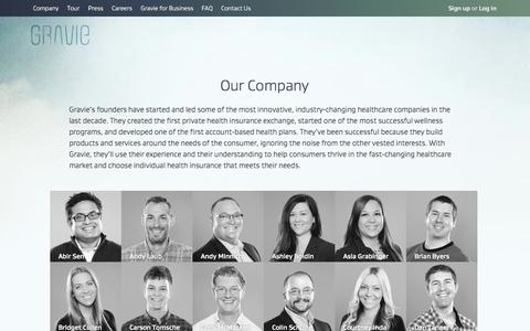 Screenshot of Team Page gravie.com - Started by Healthcare Industry Veterans to Help Your Business - captured Sept. 16, 2014