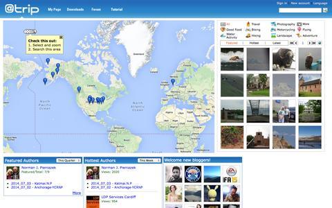 Screenshot of Home Page a-trip.com - @trip - captured Jan. 23, 2015