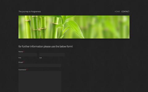 Screenshot of Contact Page thejourneytoforgiveness.com - Contact - The Journey to Forgiveness - captured May 23, 2016