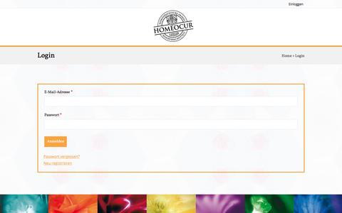 Screenshot of Login Page homeocur.com - Login - Homeocur - captured July 12, 2018