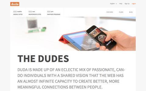 Screenshot of Team Page dudamobile.com - Management | Duda - captured Oct. 22, 2015
