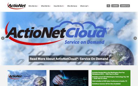 Screenshot of Team Page actionet.com - IT Integration Enabling Business Transformation | ActioNet - captured July 19, 2018