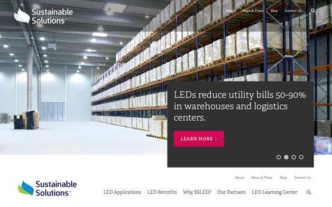 Screenshot of Home Page sustainablesolutionsled.com - LED lighting solutions | Sustainable Solutions LED | Sustainable Solutions LED - captured Aug. 14, 2015