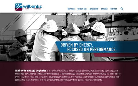 Screenshot of Home Page wilbanksel.com - Wilbanks Energy Logistics // Rig Mobilization and Production Support - captured Oct. 6, 2014