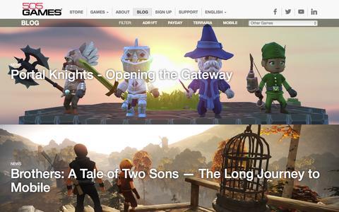 Screenshot of Blog 505games.com - Blog - 505 Games - captured Feb. 15, 2016